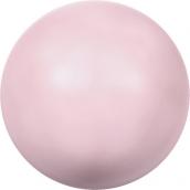"""Бусина стеклян """"Сваровски"""" 5810 8 мм  1шт  под жемчуг   кристалл нежно-розовый (rose 944)"""