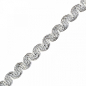 Тесьма отделочная шир.7 мм цв.серебро