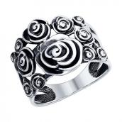 Кольцо из чернёного серебра, серебро 925 Разм 17,5