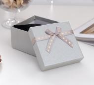 """Коробочка подарочная под часы """"Влюбленность"""", 9*9 (размер полезной части 8,3х8,3см), цвет серебро"""