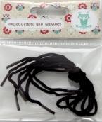 Шнурки обувные для игрушек арт.КЛ.25392 1,5ммх30см, 2 пары цв.коричневый