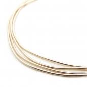 Канитель мягкая, гладкая глянец, цв.розовое золото 0,7мм уп.10 г