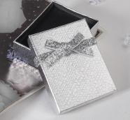 """Коробочка подарочная под набор """"Сияние"""", 7*9 (размер полезной части 6,4х8см), цвет серебро"""