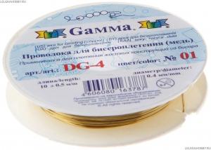 Проволока для бисера металл DG-4  d 0.4 мм  10 м  ±0.5 м №01 под латунь