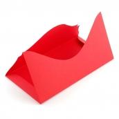 Основа для подарочного конверта Комплект №4 цв.красный матовый 1шт