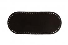 """застежки и ручки для сумок """"Gamma""""   ZKS-001   Донце для вязаной сумки, овальное № 001 Чёрный"""