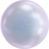 "Бусина стеклян ""Сваровски"" 5810 радуж 8 мм 1 шт под жемчуг  кристалл голубой перламутр (irid. dreamy blue 2026)"