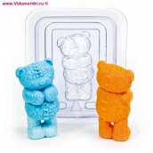 """Пластиковая форма 3D """"Медведь"""" (2 половинки)"""