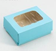 Коробка, цв.голубой, 10 х 8 х 3,5 см 4823065