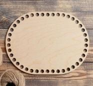 """Заготовка для вязания """"Овал параллельный"""", донышко фанера 3 мм, 24*18 см, d=10мм 4882482"""