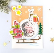 Набор для создания открытки- шейкера «Подарочки», 11 х 15 см   4359996