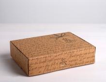 Коробка складная крафтовая «Для тебя», 21 *15 *5 см 4789092