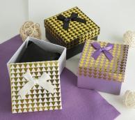 """Коробочка подарочная под браслет/часы """"Треугольники"""" блестящие, 9*9 (размер полезной части 8,4х8,4см), цвет МИКС"""